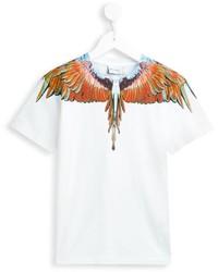Детская белая футболка с принтом для мальчику