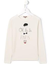 Детская белая футболка с принтом для девочке от Emile et Ida