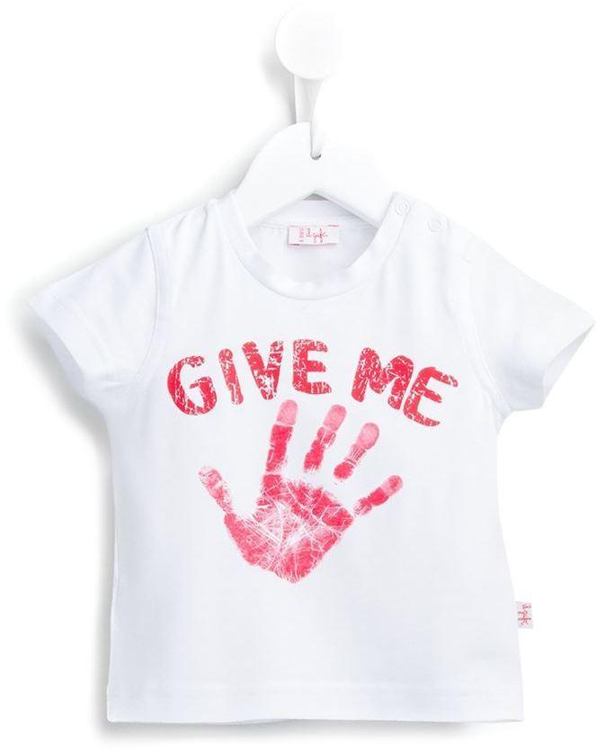 Детская белая футболка с принтом для мальчику от Il Gufo