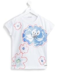 Детская белая футболка с принтом для мальчику от Simonetta