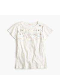 Белая футболка с украшением