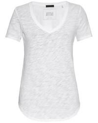 белая футболка с v образным вырезом original 1306041