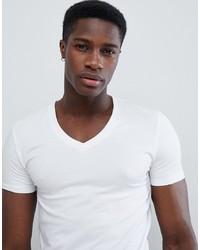 Мужская белая футболка с v-образным вырезом от ASOS DESIGN