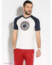 Мужская белая футболка с v-образным вырезом от BOSCO