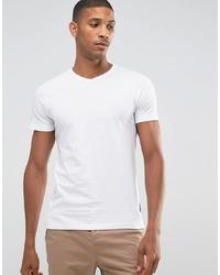 Мужская белая футболка с v-образным вырезом от French Connection