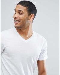 Мужская белая футболка с v-образным вырезом от Jack & Jones