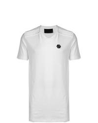 Мужская белая футболка с v-образным вырезом от Philipp Plein