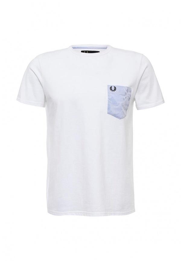Белые мужские футболки Фред Перри