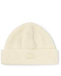 Мужская белая шапка от Acne Studios