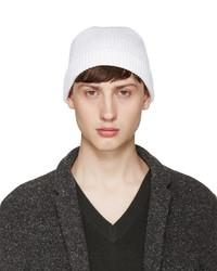 Мужская белая шапка от Lemaire