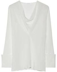 Белая шелковая блузка с длинным рукавом от Chloé