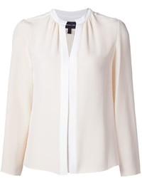 Белая шелковая блузка с длинным рукавом от Derek Lam