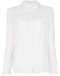 Женская белая шелковая классическая рубашка от And A