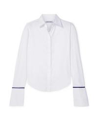 Женская белая шелковая классическая рубашка от Anna Quan