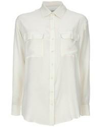 Женская белая шелковая классическая рубашка от Equipment