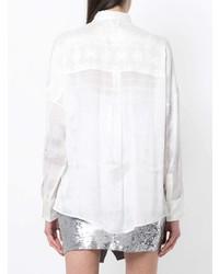 Женская белая шелковая классическая рубашка от IRO