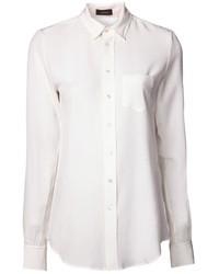 Женская белая шелковая классическая рубашка от Joseph