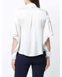 Женская белая шелковая классическая рубашка от L'Autre Chose