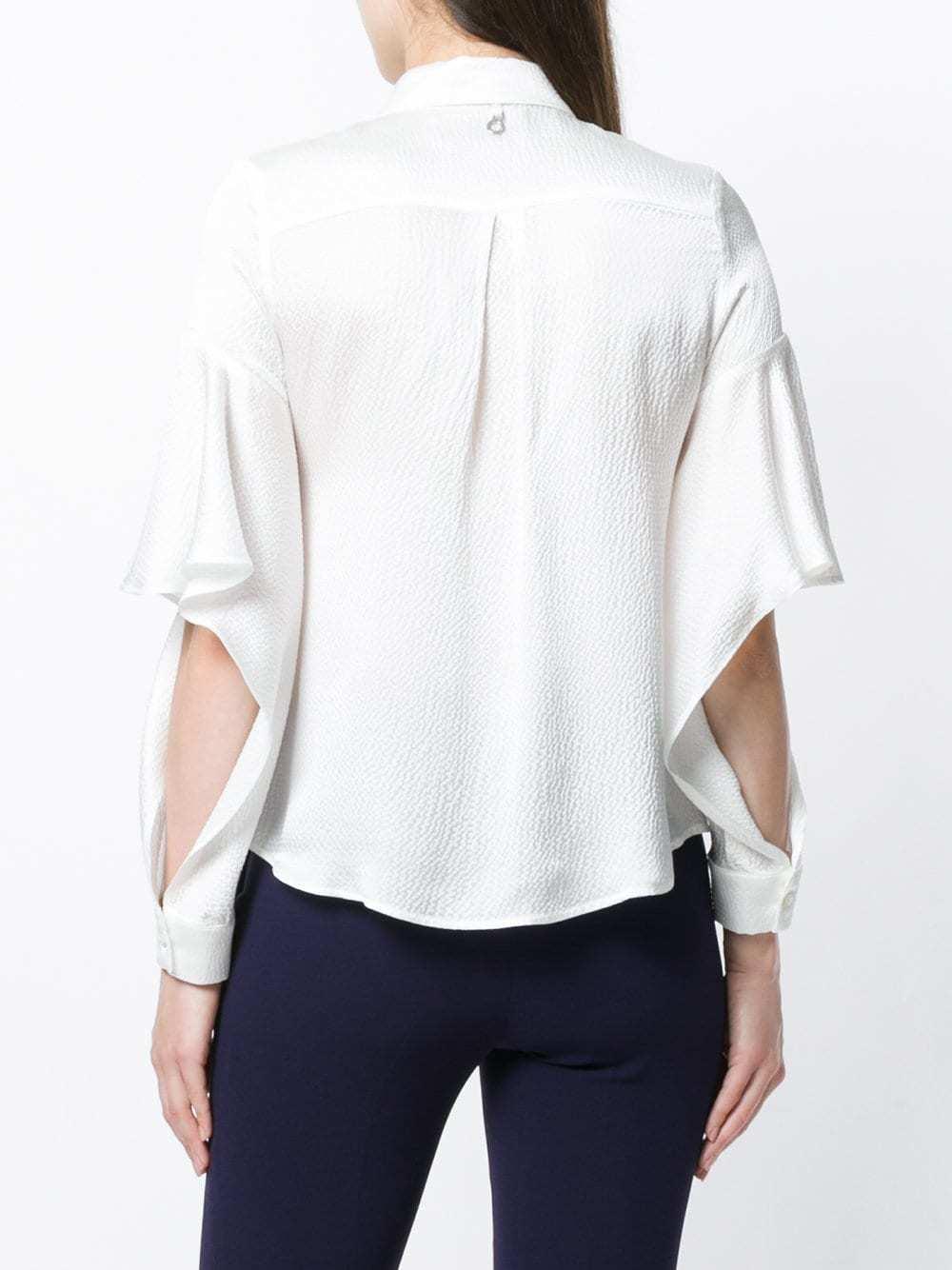 84f7f93032e ... Женская белая шелковая классическая рубашка от L Autre Chose ...