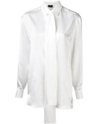 Женская белая шелковая классическая рубашка от Lanvin