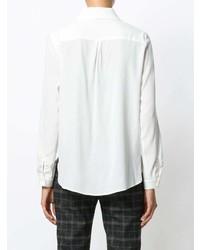Женская белая шелковая классическая рубашка от Le Tricot Perugia