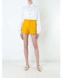 Женская белая шелковая классическая рубашка от Macgraw
