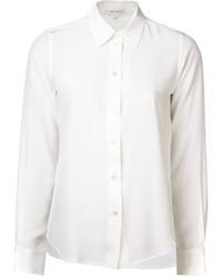 Женская белая шелковая классическая рубашка от Marc Jacobs