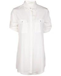 Женская белая шелковая классическая рубашка от Rag and Bone