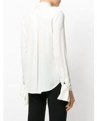 Женская белая шелковая классическая рубашка от Theory