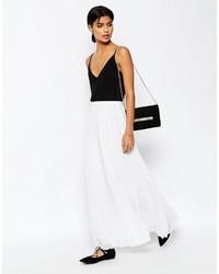 Белая шифоновая длинная юбка со складками от Asos