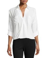 Белая шифоновая классическая рубашка