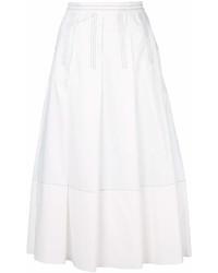 Белая юбка-миди со складками от Marni
