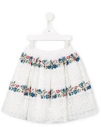 Детская белая юбка с цветочным принтом для девочке от Ermanno Scervino