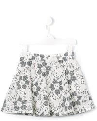 Детская белая юбка с цветочным принтом для девочке от Miss Blumarine