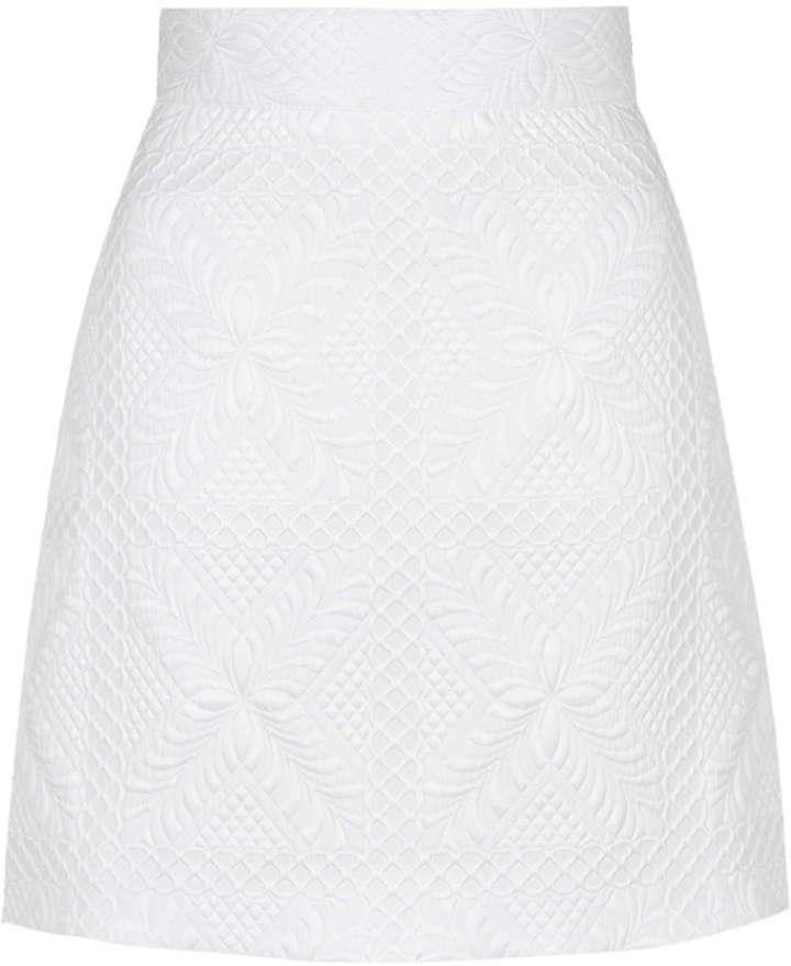 Белая юбка трапеция с чем носить
