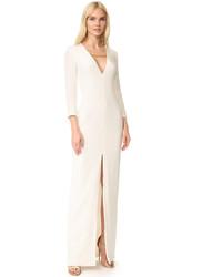 Белое вечернее платье с разрезом