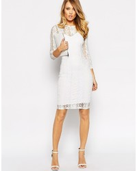 e97bfbf239a5 Белое кружевное облегающее платье   Где купить и с чем носить