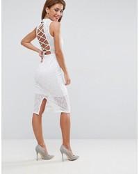 Женское белое кружевное платье-миди от Asos