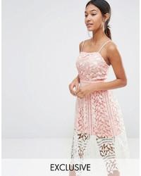 Женское белое кружевное платье-миди от Boohoo