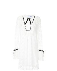 Белое кружевное платье-миди от Macgraw
