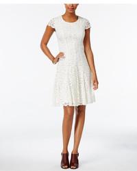 Женское белое кружевное платье с пышной юбкой от Tommy Hilfiger