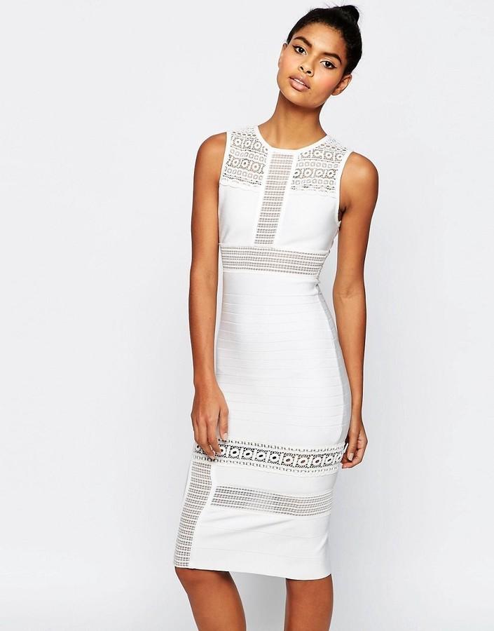 508f6a09d84 ... Белое кружевное платье-футляр от Asos ...