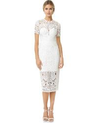 Женское белое кружевное платье-футляр от Lover