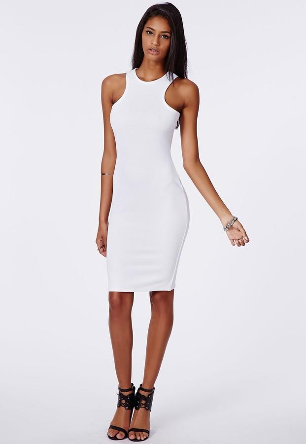 Белые облегающие платья фото