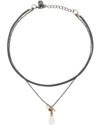 Белое ожерелье-чокер