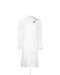 Белое пальто с вышивкой
