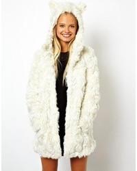 020b4657902 Купить женское белое пальто с рельефным рисунком в интернет-магазине Asos