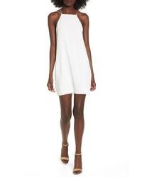 Белое платье-комбинация