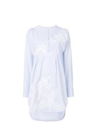 Белое платье-рубашка в вертикальную полоску от Ermanno Scervino