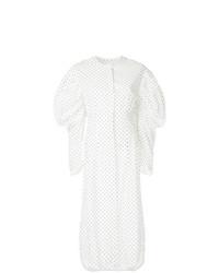 Белое платье-рубашка в горошек от Georgia Alice